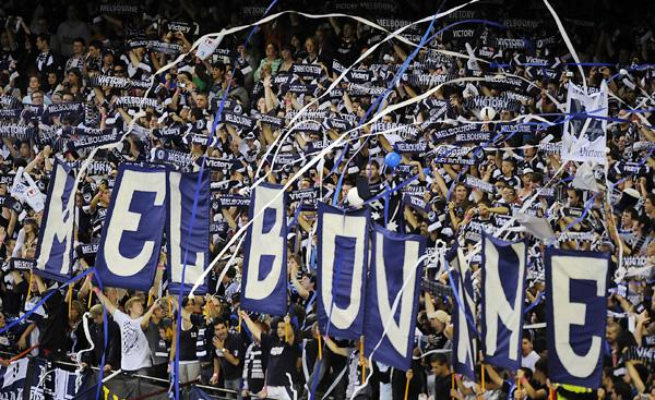 Melbourne Victory fans out in force.