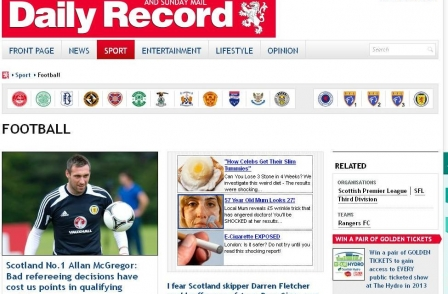 daily record football
